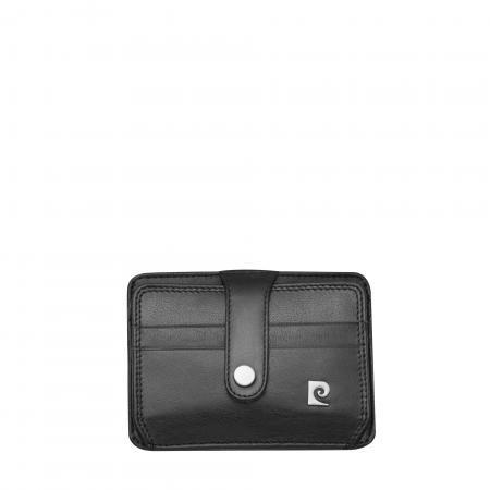 Калъф за документи PIERRE CARDIN черен от естествена кожа