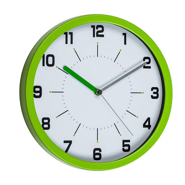 Стенен часовник зелен