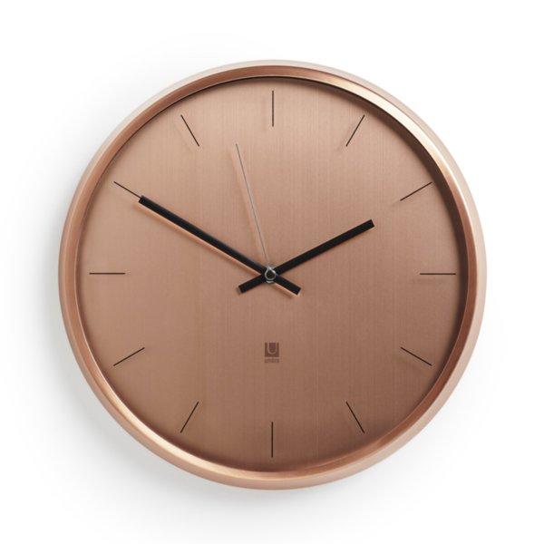 """UMBRA Часовник за стена """"META"""" - цвят мед"""