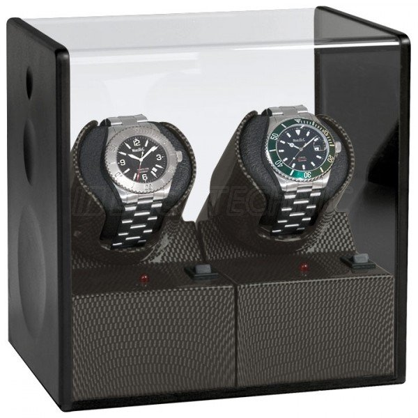 WATCH WINDERS Beco Technic Satin Carbon Expert For 2 Watches