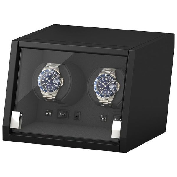 WATCH WINDERS Beco Technic Boxy Castle 2 Matt Black Wood