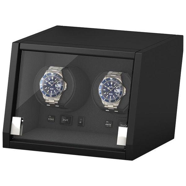 WATCH WINDERS Beco Technic Boxy Castle 2 Matt Black Wood