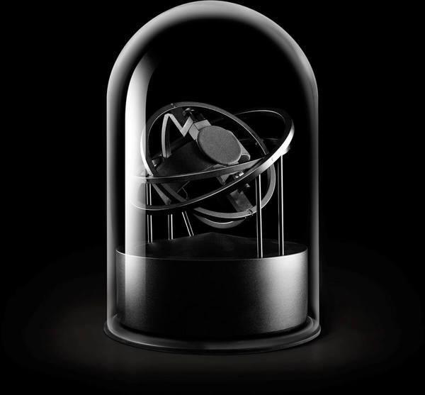 WATCH WINDERS Bernard Favre PLANET DOUBLE-AXIS BLACK RINGS BLACK ALU BASE