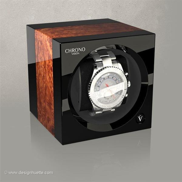 WATCH WINDERS Chronovision One - Elm High-Gloss / Black High-Gloss Product