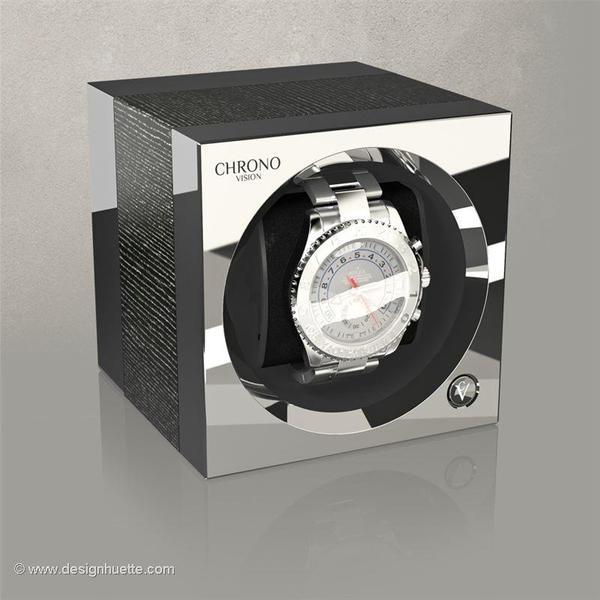 WATCH WINDERS Chronovision One - Argento Silk / Chrome