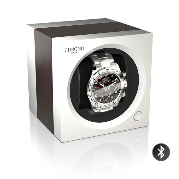 WATCH WINDERS Chronovision One Bluetooth - Oak Silk/White Silk
