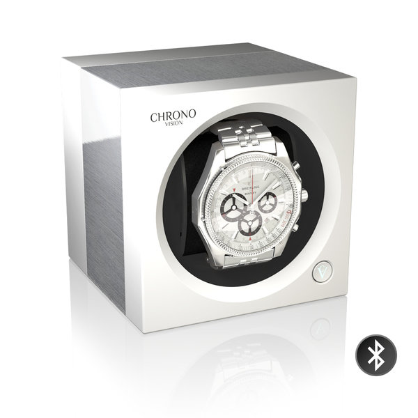WATCH WINDERS Chronovision One Bluetooth - Aluminium/White Silk