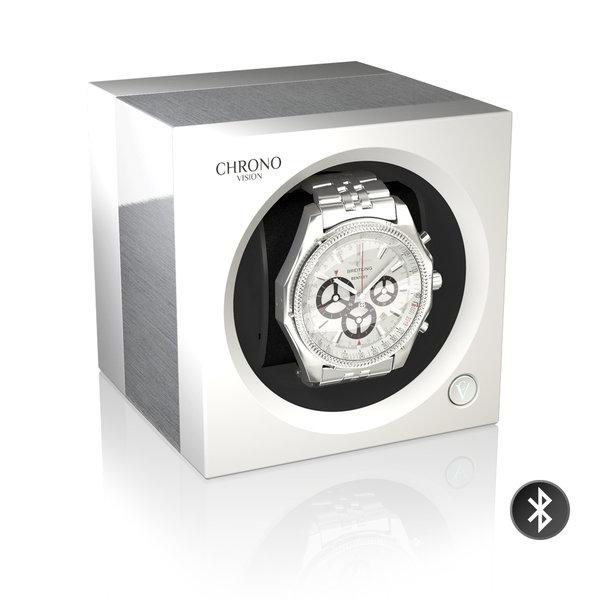 WATCH WINDERS Chronovision One Bluetooth - Aluminium/White Silk