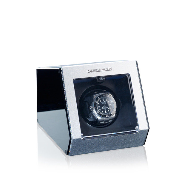 WATCH WINDERS Designhütte Alu Tech Silver For 1 Automatic Timepiece