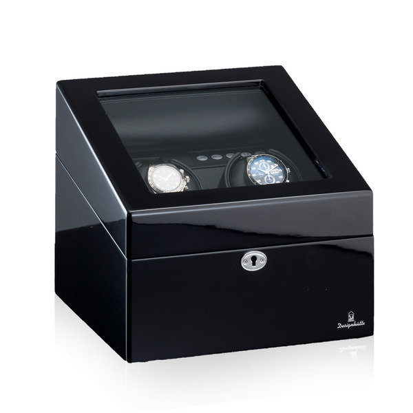 WATCH WINDERS Designhütte München 2 LCD Luxurious 2+4 Winder (Spins 2 And Stores 4 More Watches)