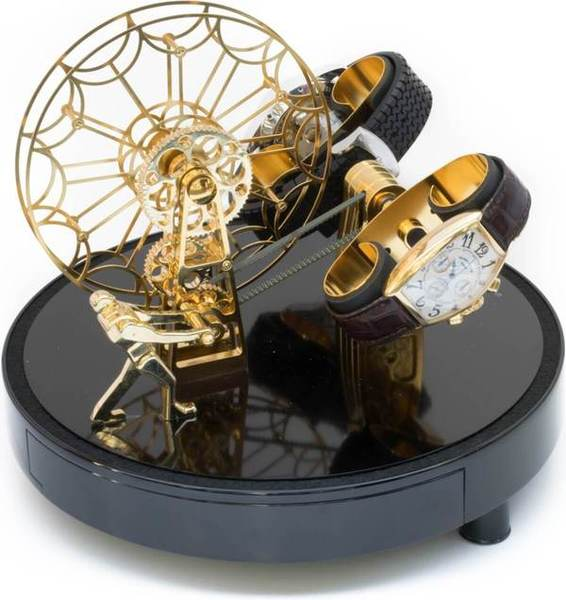 WATCH WINDERS Kunstwinder KW Ferris Wheel Gold For 2 Automatic Timepieces