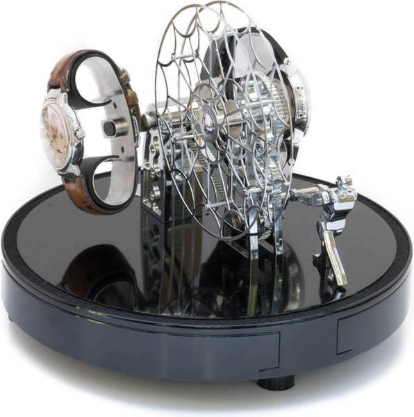 WATCH WINDERS Kunstwinder KW Ferris Wheel Chrome For 2 Automatic Timepieces