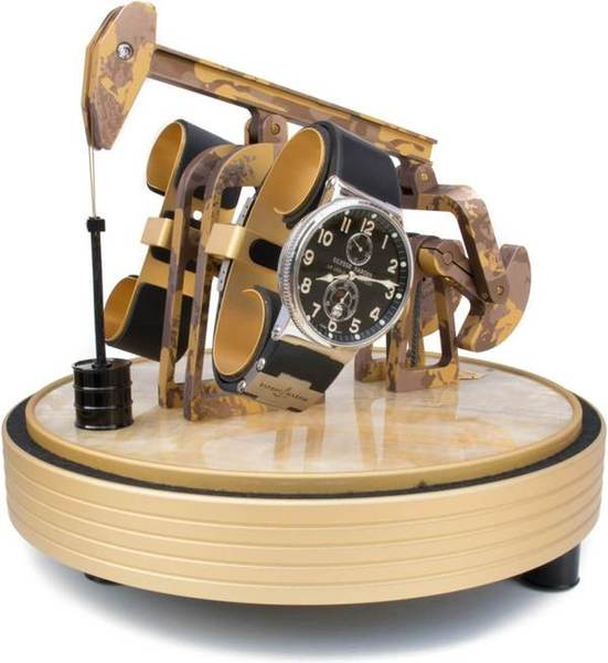 WATCH WINDERS Kunstwinder KW Desert Mirage For 2 Self-Winding Timepieces, Natural Onyx, Hand Painted Aliminium