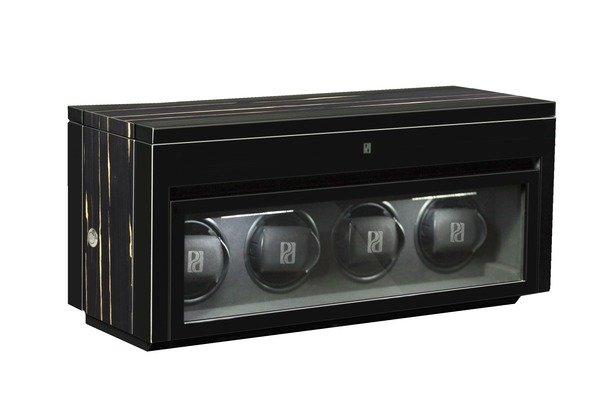 WATCH WINDERS Paul Design | Boda Concept Gentlemen 4+6 Black Shadow LED - Winds 4 And Stores Another 6 Timepieces