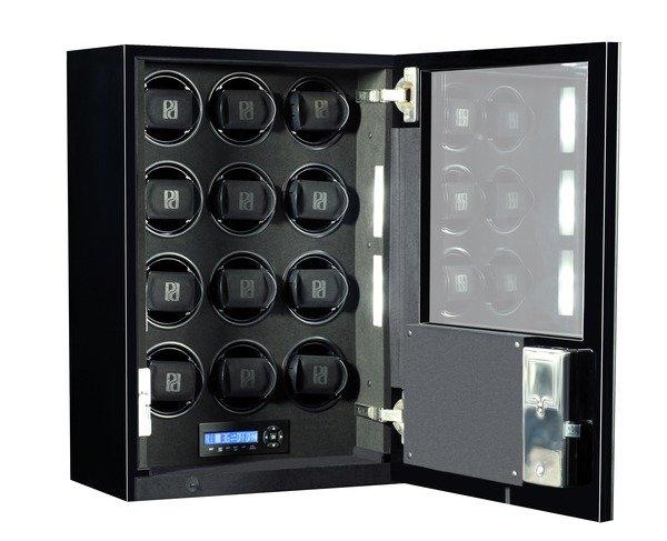 WATCH WINDERS Paul Design | Boda Concept Addiction 12 Mirror Black LED - Services 12 Timepieces