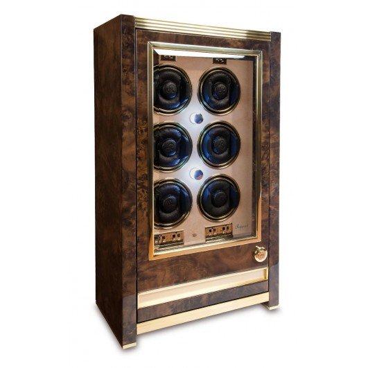 WATCH WINDERS Rapport London Est. 1898 W526 - Paramount Aged Walnut Six Watch Cabinet