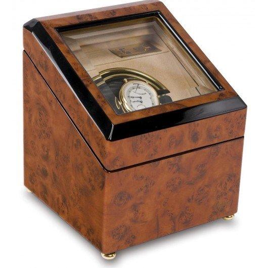 WATCH WINDERS Rapport London Est. 1898 W231 - Optima Walnut Burr Mono Watch Winder