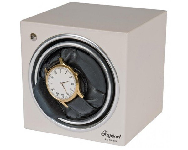 WATCH WINDERS Rapport London Est. 1898 EVO CUBE GLACIER WHITE - EVO CUBE #4 - White Single Winder