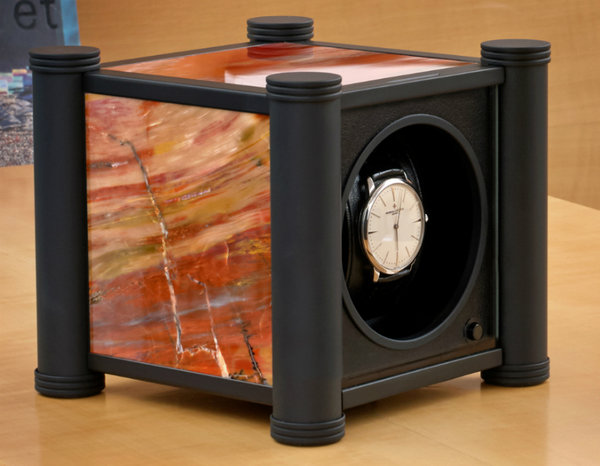WATCH WINDERS RDI Charles Kaeser MEMOIRE - Functional Objets D'Art - UNIQUE Petrified Wood Single Watch Winder