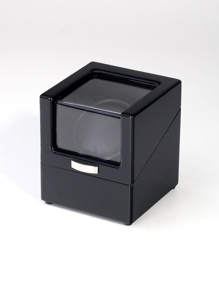WATCH WINDERS Rothenschild For A Single Watch, Black Piano Lacquer, 4 Rotation Programs, Mains / Battery Operation