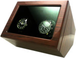 WATCH WINDERS Zeno-Watch Basel Support 3 For 3 Timepieces - Teak Wood
