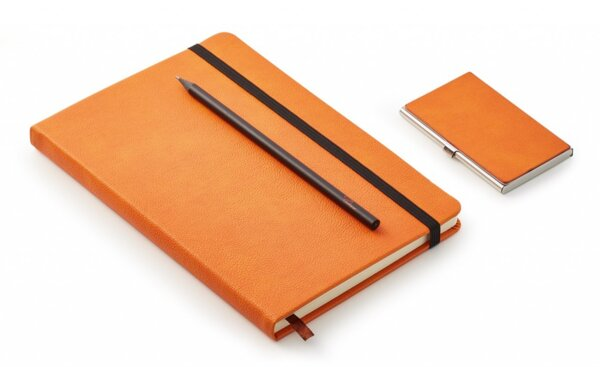 """Бизнес подарък """"NOTES"""" от 3 части - тефтер, молив и визитник"""