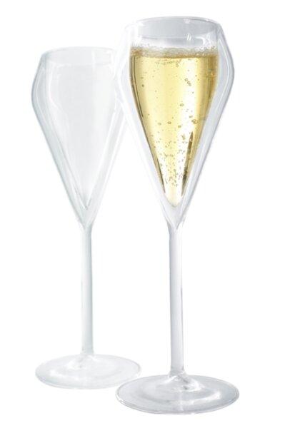 Комплект от 2 бр. двустенни стъклени чаши за шампанско