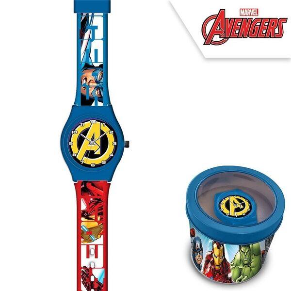 Детски часовник Avengers в метална кутия