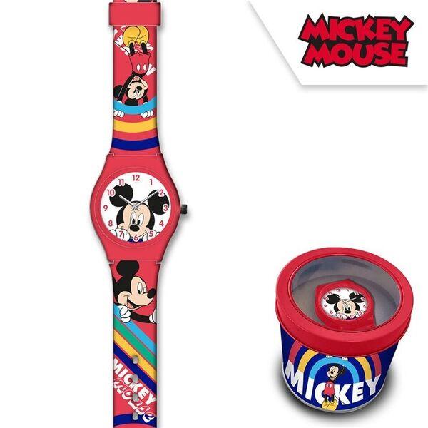 Детски часовник Mickey Mouse в метална кутия