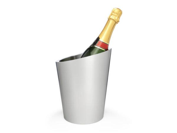 ZILVERSTAD Двустенен стоманен охладител за шампанско