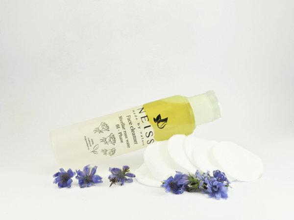 Почистваща двуфазна мицеларна розова вода BI - Phase за лице