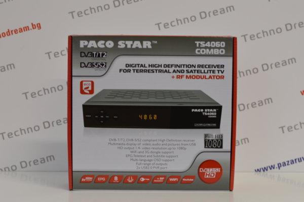 Комбиниран HD Ефирен DVB-T/T2 + Сателитен DVB-S/S2 приемник TS4060 с RF модулатор