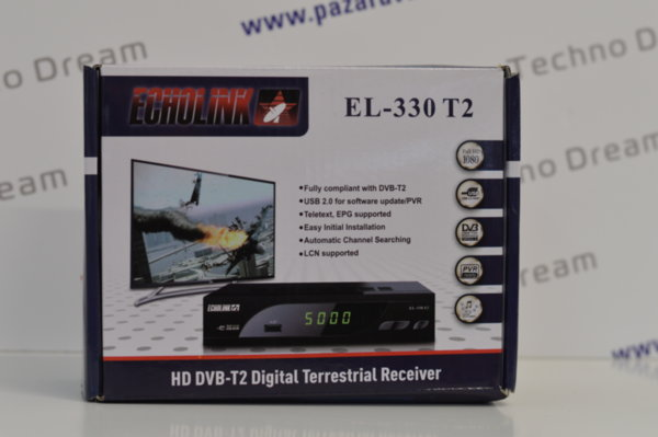 HD Декодер за ефирна цифрова телевизия ECHOLINK EL-330 T2