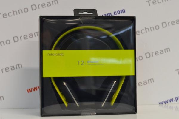 Безжични слушалки Microlab T2, Bluetooth - зелени