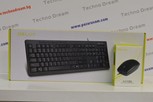 Комплeкт клавиатура + мишка DELUX - USB
