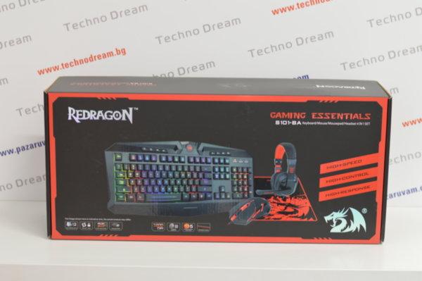 Геймърски комплект 4 в 1 - Redragon S101-BA Gaming Combo