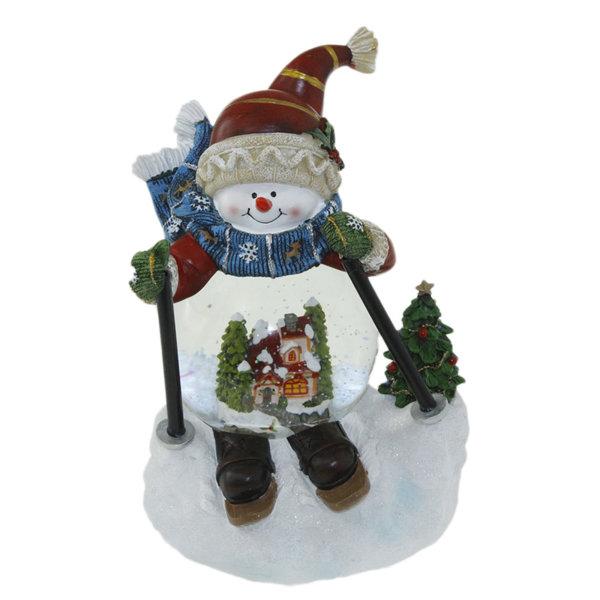 Коледно преспапие 21см, музика и светлина - Снежен човек 23026563