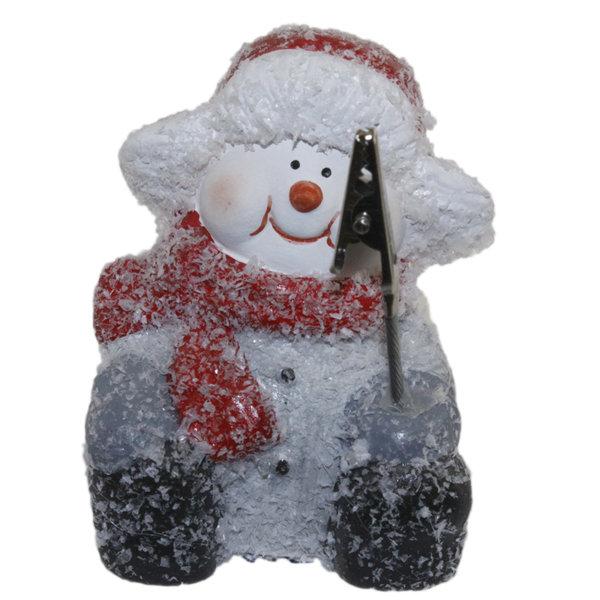 Поставка за визитки 8см - Снежен човек 22026536