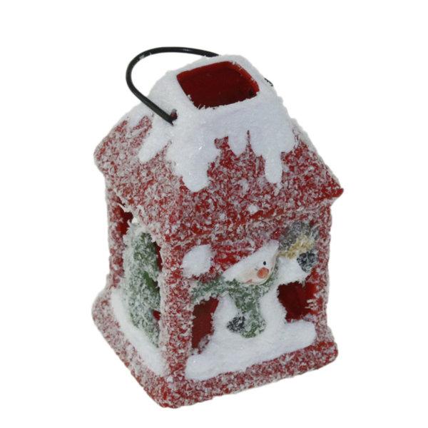 Коледен фенер 7.5см - Снежен човек 22026538
