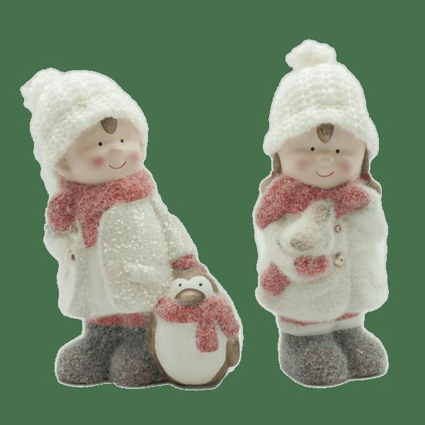 Коледна декорация - Момче и момиче 11.5см 22028387