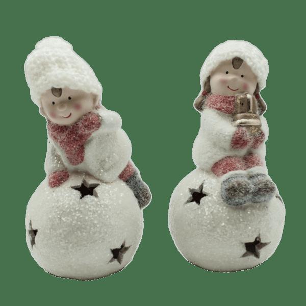 Коледна декорация - Момче и момиче 8.5см 22028388
