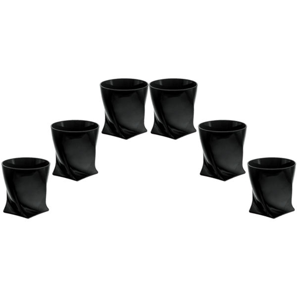 Комплект 6 чаши за уиски черно Куадро 340ml 85028564