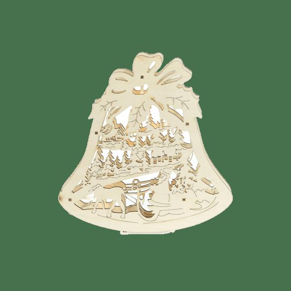 Коледна декорация от дърво - Камбанка 27028107