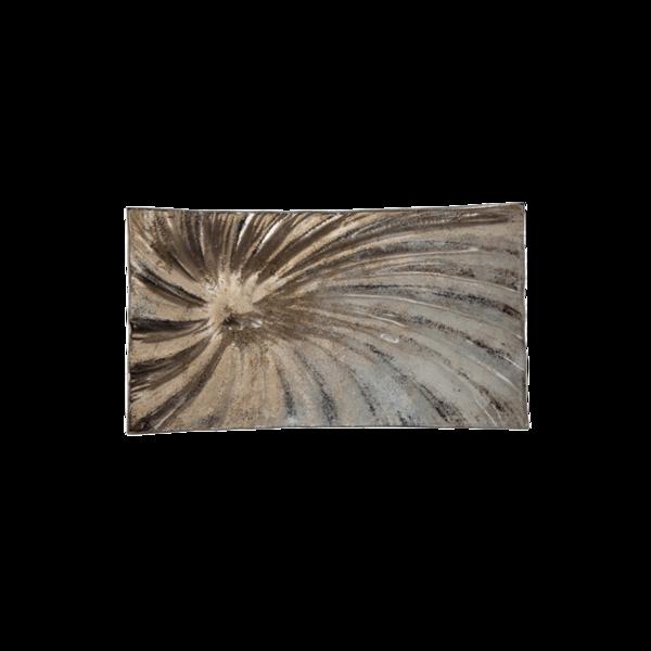 Стъклено правоъгълно плато 31см - Седеф 78028447