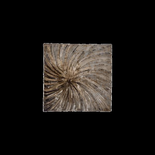 Стъклено квадратно плато 24.5см - Седеф 78028448