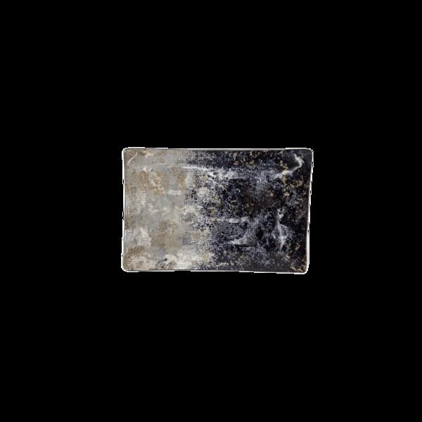 Стъклено правоъгълно плато 21см - Синьо 78028450
