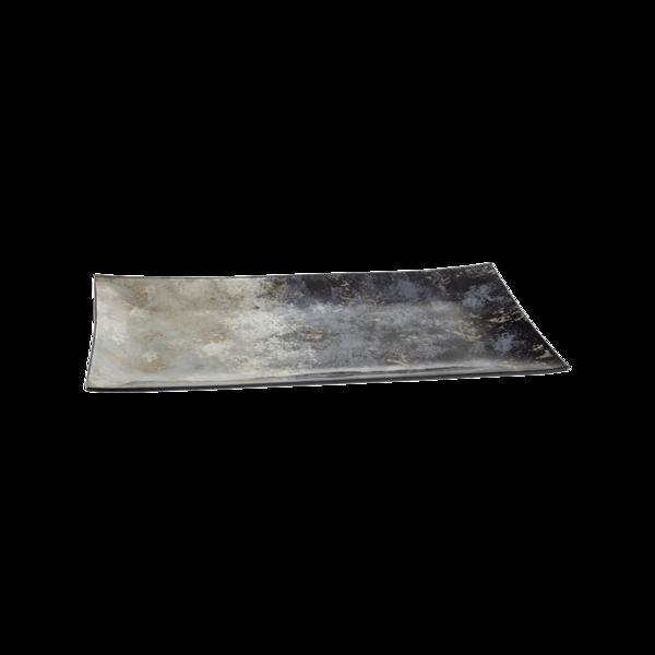 Стъклено правоъгълно плато 43см - Синьо 78028453