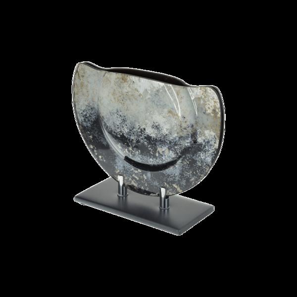 Стъклена ваза 28см - Синя 78028454