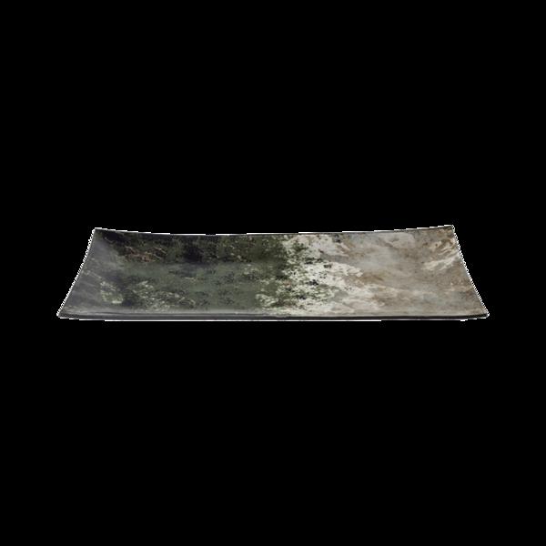 Стъклено правоъгълно плато 43см - Зелено 78028459