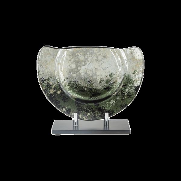 Стъклена ваза 28см - Зелена 78028460